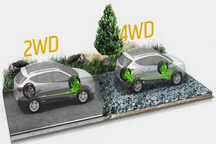 تفاوت 2WD و 4WD و AWD